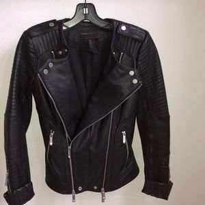 BCBG 🔥 Black leather jacket